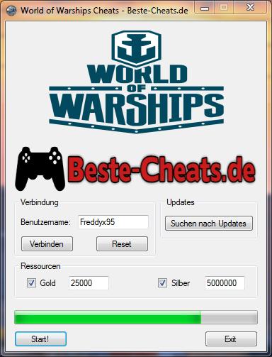 World of Warships Cheats - Gold und Silber