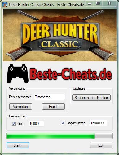 Deer Hunter Classic Cheats - Gold und Jagdmünzen