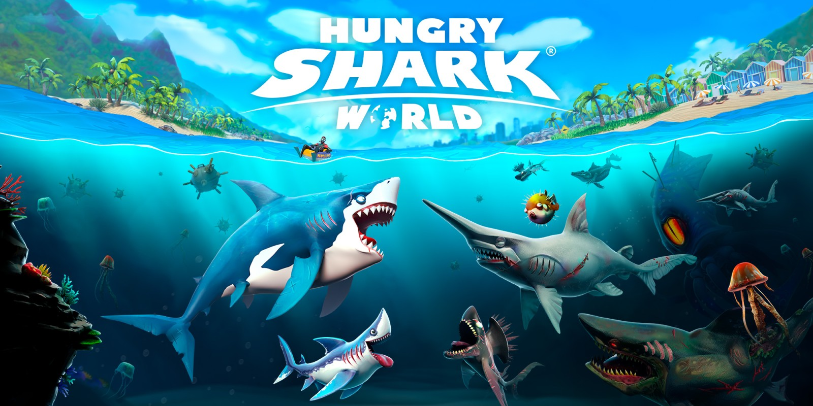 Hungry Shark World - mobiles Arcade-Spiel