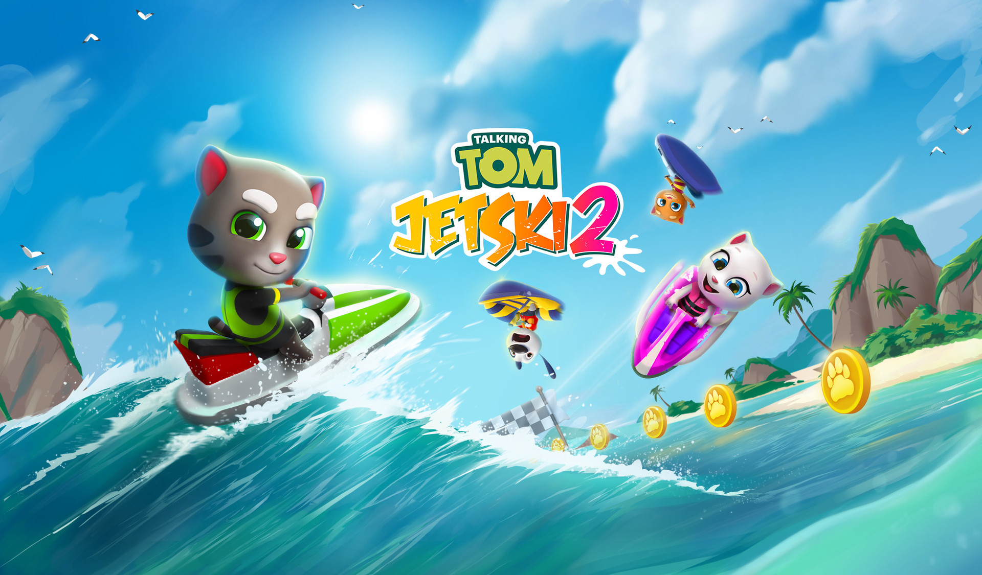 talking tom jetski 2 spiel logo