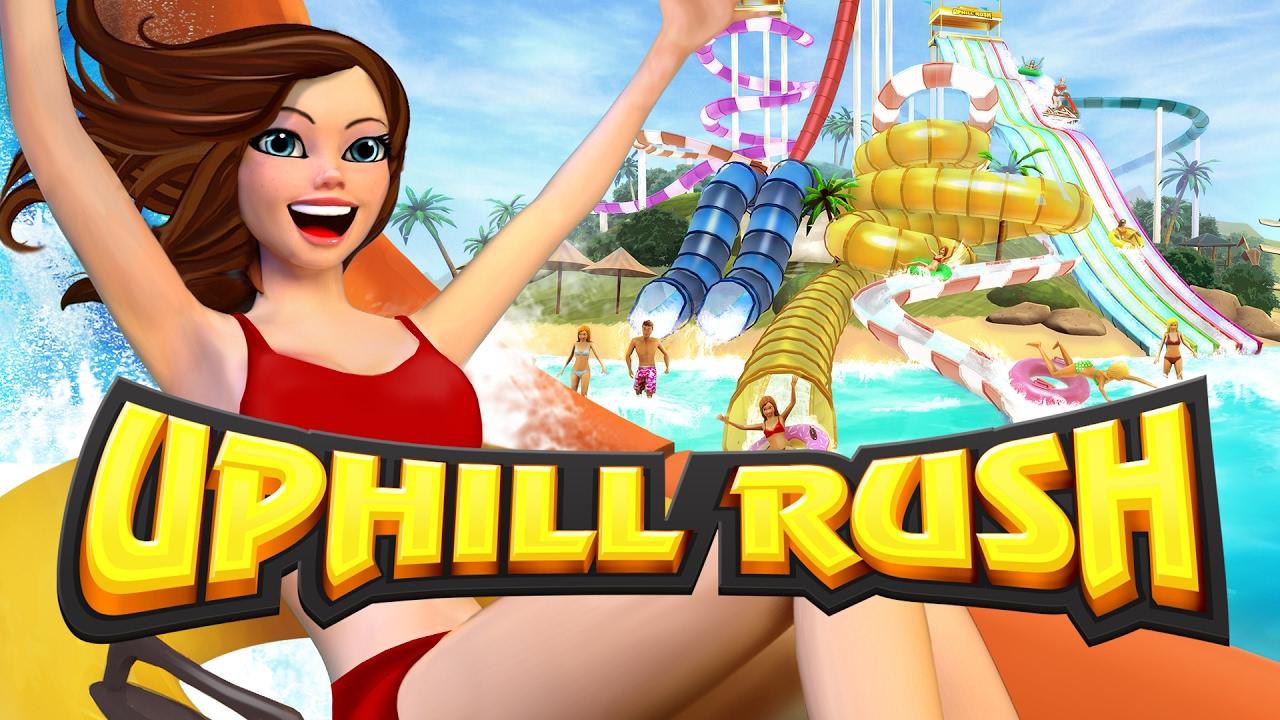 uphill rush water park racing logo bild