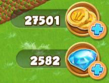 Village and Farm - Ressourcen (Münzen und Diamanten)